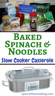 Using your crockpot to make casseroles is wonderful! This baked spinach and noodle ziti recipe tastes like spinach alfredo but it made in one pot easily at home. Delicious and easy and now I want one of these new casserole crockpots!