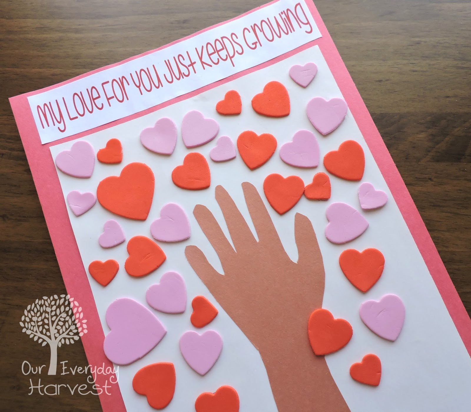 Valentine S Day Heart Tree Preschool Craft