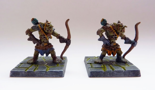 Goblin spitters - Warlord of Galahir expansion for Mantic's Dungeon Saga.
