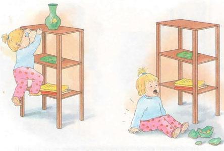 Subirse a un mueble
