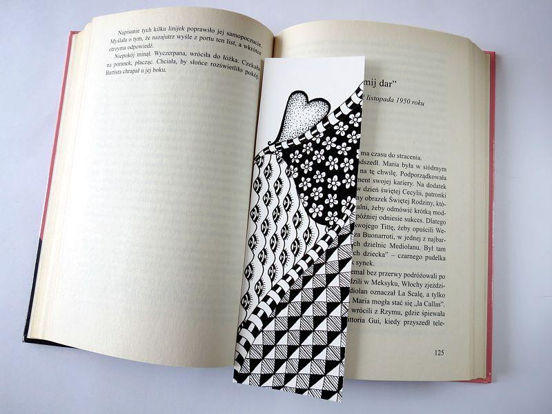 Oryginalna zakładka do książki diy