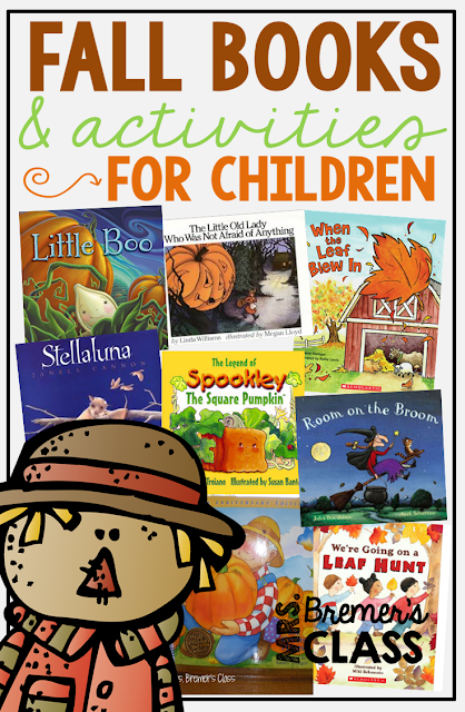 Fall picture books for an autumn theme, with book study companion activities to go with each book- perfect for Kindergarten and First Grade!