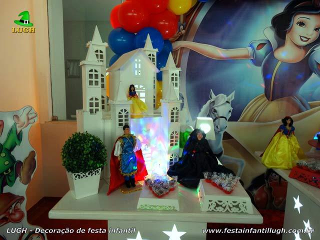 Decoração festa de aniversário infantil Branca de Neve - Mesa temática