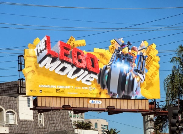 The Lego Movie extension billboard