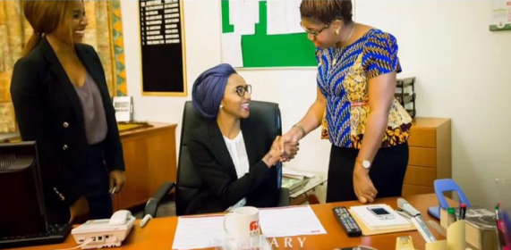 Buhari's First daughter signs as NGO Ambassador, Buharis daughter, Zahra Buhari, Ace, news in Nigeria, channels TV, punch newspaper, news, Nigeria, peace ambassadors, Buhari's family, news about the president, sophiestylish, www.sophiestylish.blogspot.com, Sophie David, Sophie David-mbamara,