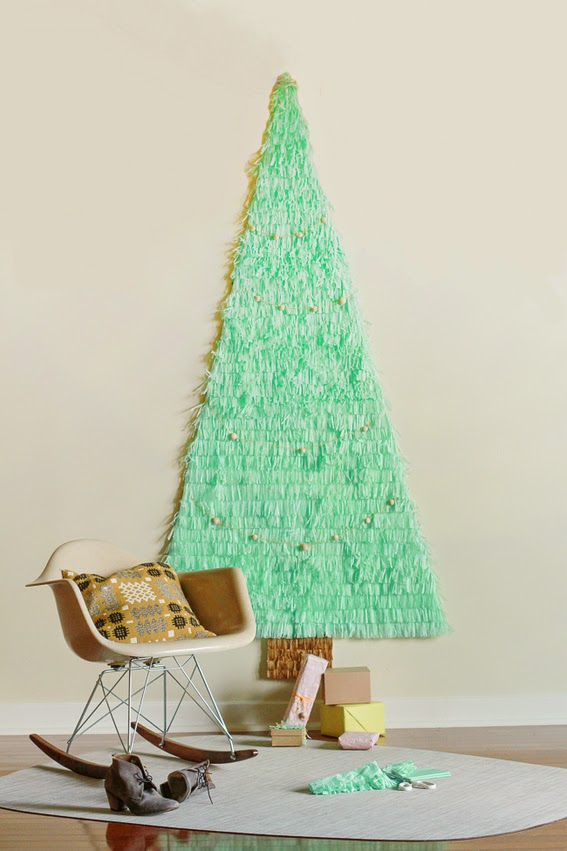 diy rbol de navidad con papel seda y cartulina