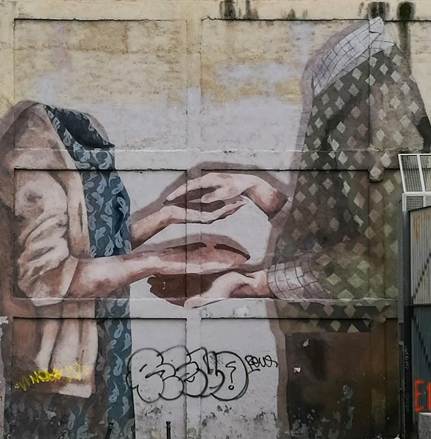 Trampantojos y Murales. Embajadores. Madrid.