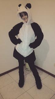 Disfraz DIY oso panda frente