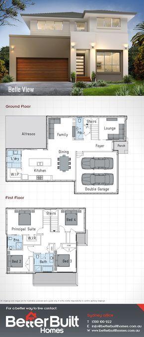 แบบบ้าน 2 ชั้น 4 ห้องนอน