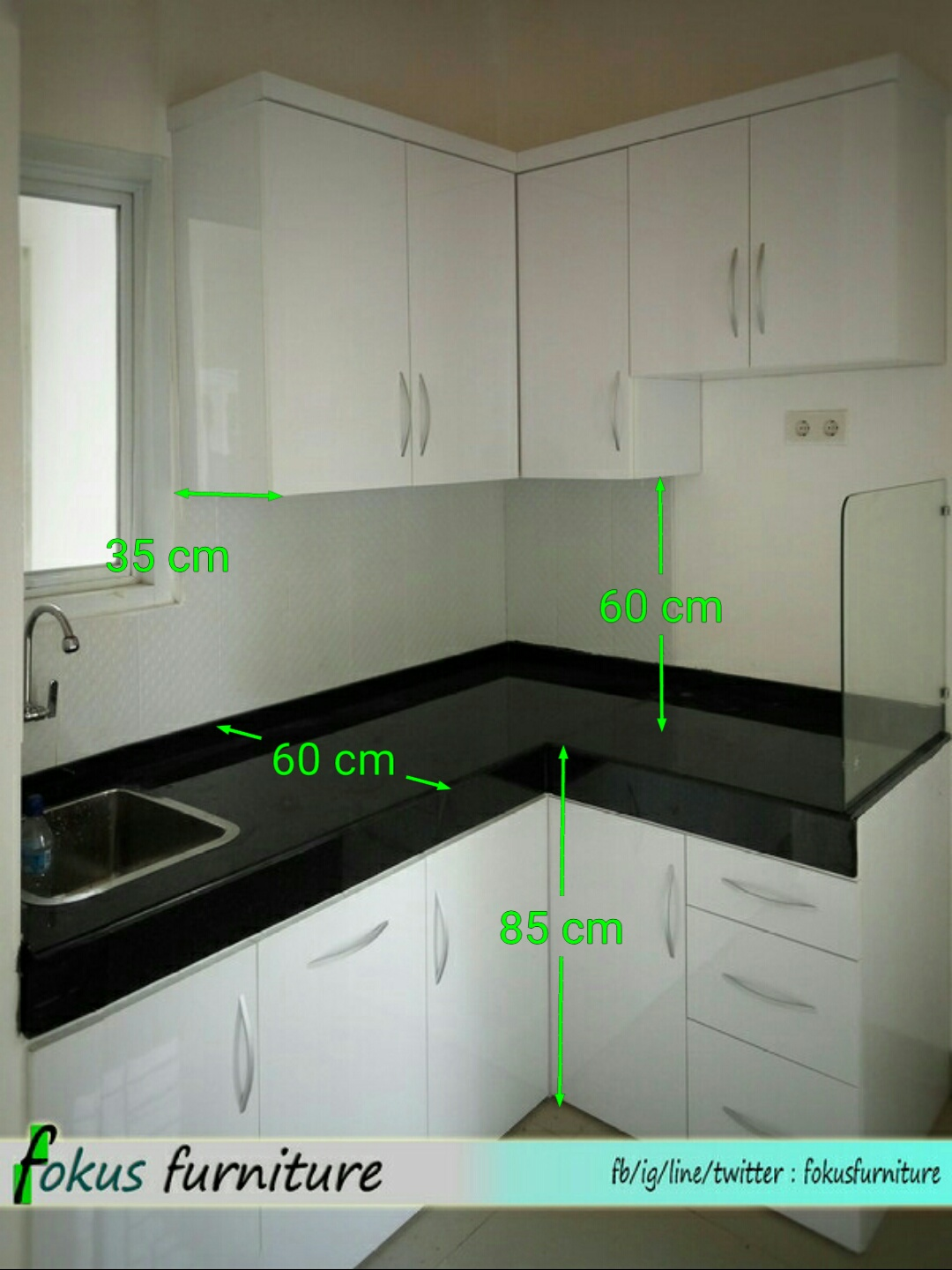 Ukuran kabinet related keywords ukuran kabinet long tail for Kitchen set olympic harga