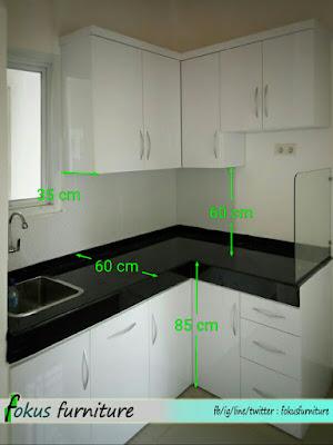 ukuran kabinet dapur standart