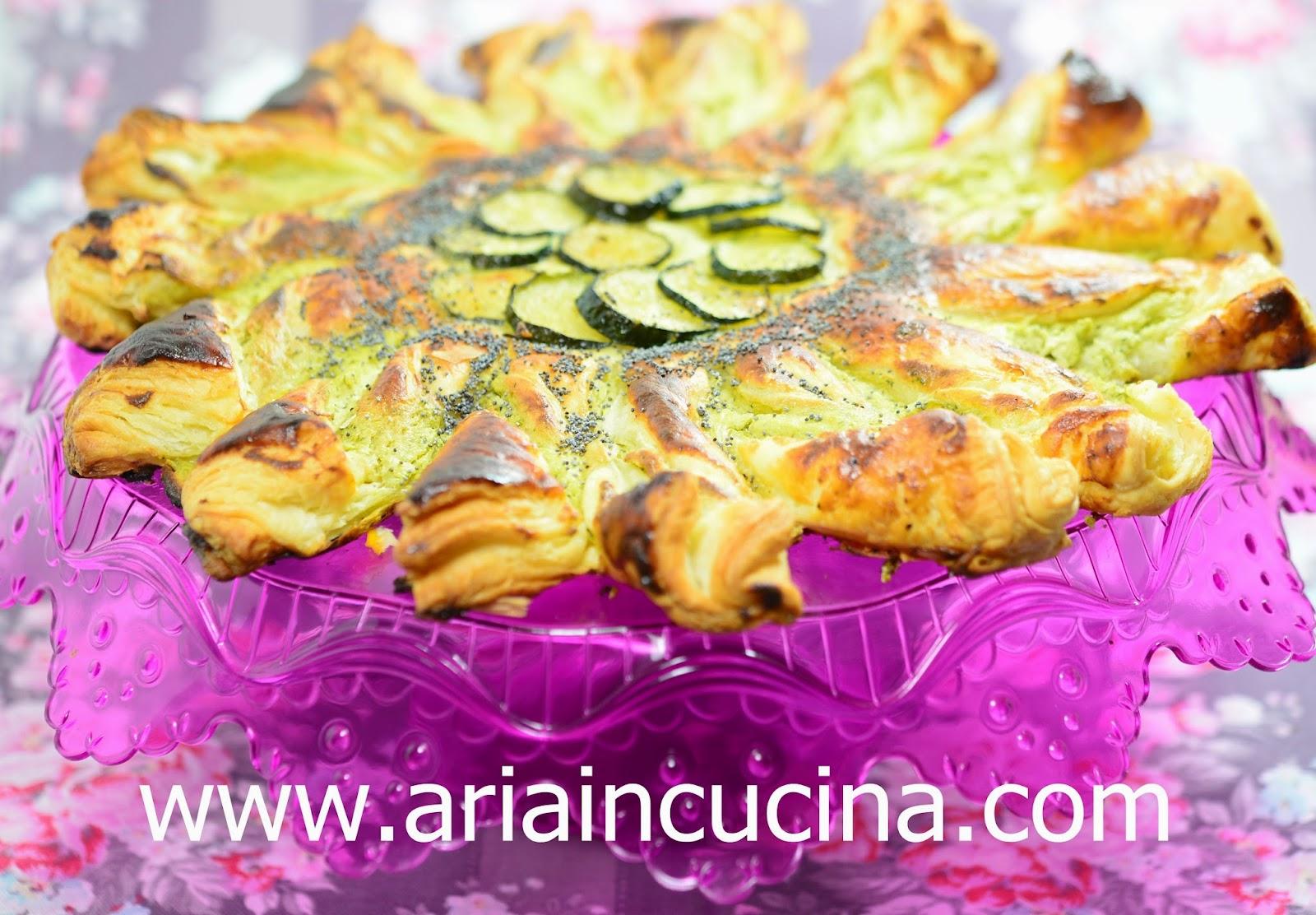 Blog di cucina di Aria: Girasole di sfoglia ricotta e verdure