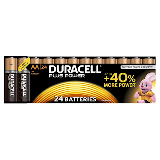 Duracell MN1500 Plus Power AA Size Batteries, Pack of 24, £6.99 OFFLINER on AMAZON