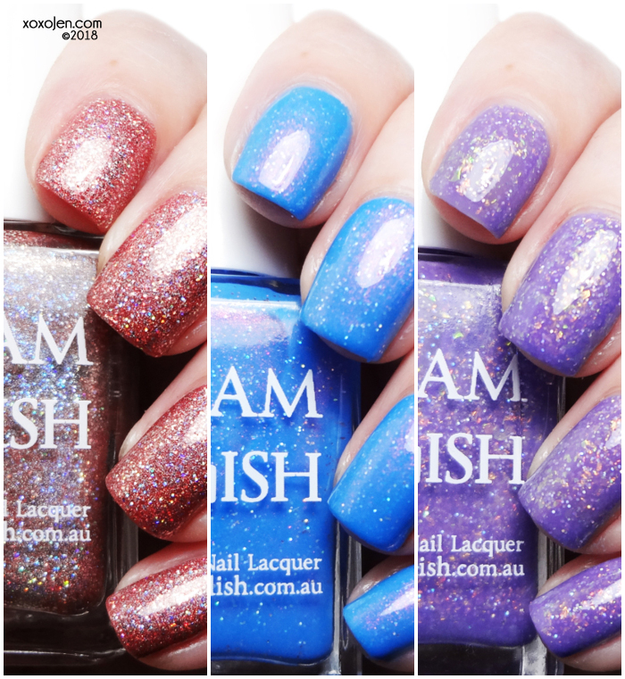 xoxoJen's swatch of Glam Polish Spread A Little Aloha Trio