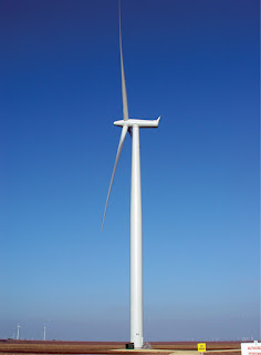 Sweetwater Texas wind turbine. (Credit: Drew Stephens CC 2.0 Wikimedia) Click to Enlarge.