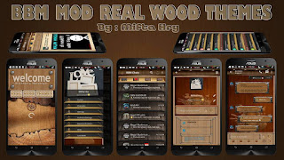 BBM Mod Real Wood Themes
