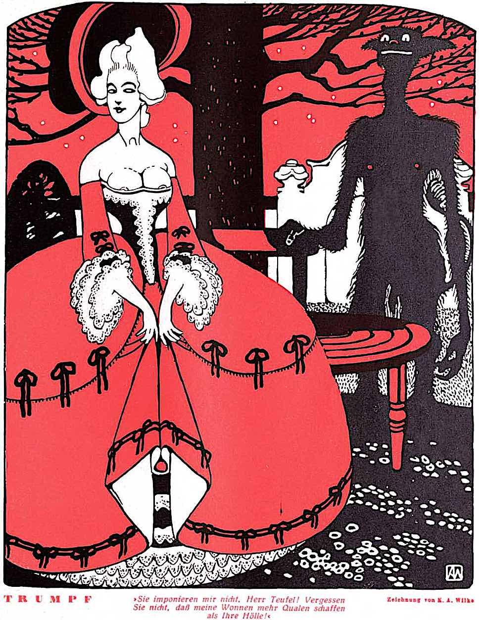Karl Alexander Wilke 1926, Trumpf, demon lust in red