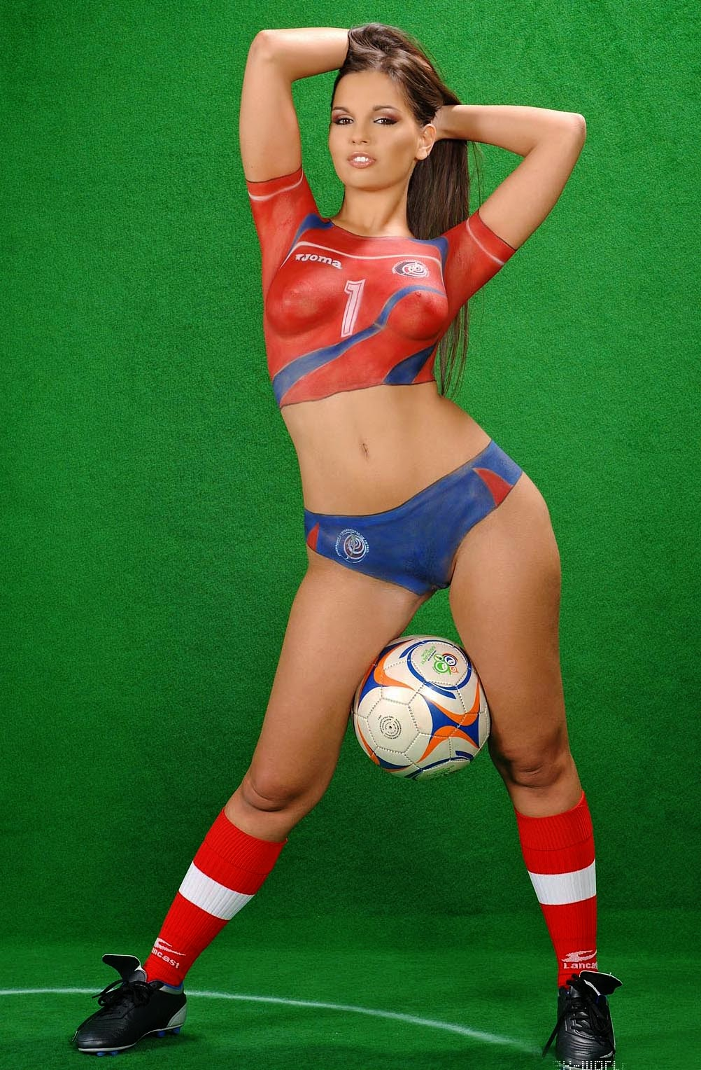 Have Football body paint nude