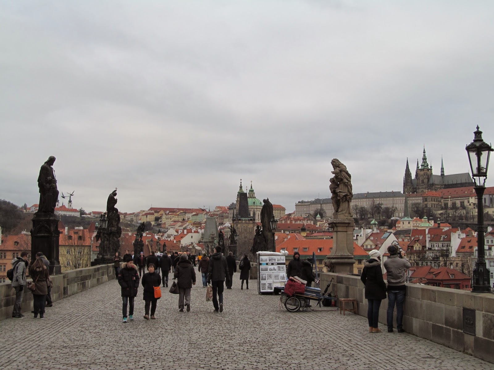 view from charles bridge prague