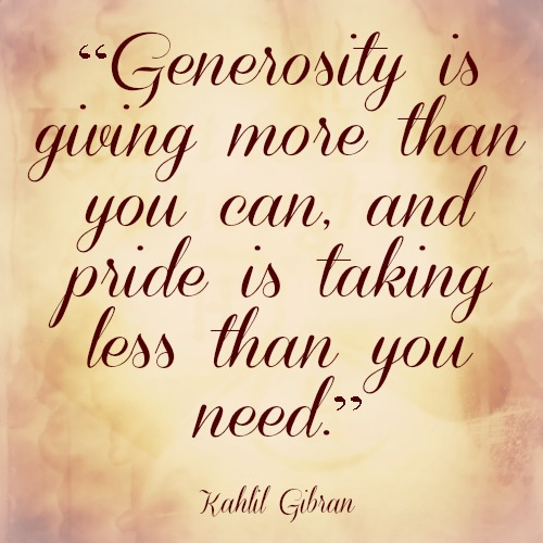 Thank You For Your Generous Gift Quotes: Quotes About Charity And Generosity. QuotesGram