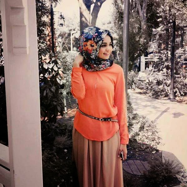 hijab+turque+orange+top
