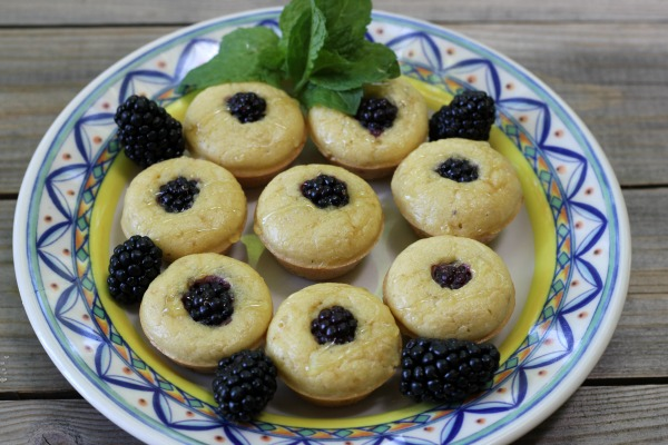 Blackberry Paleo Pancake Mini Muffins