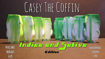 Casey the Coffin 4:20 Edition Resin Figures by Random Skull Productions - Indica & Sativa Editions