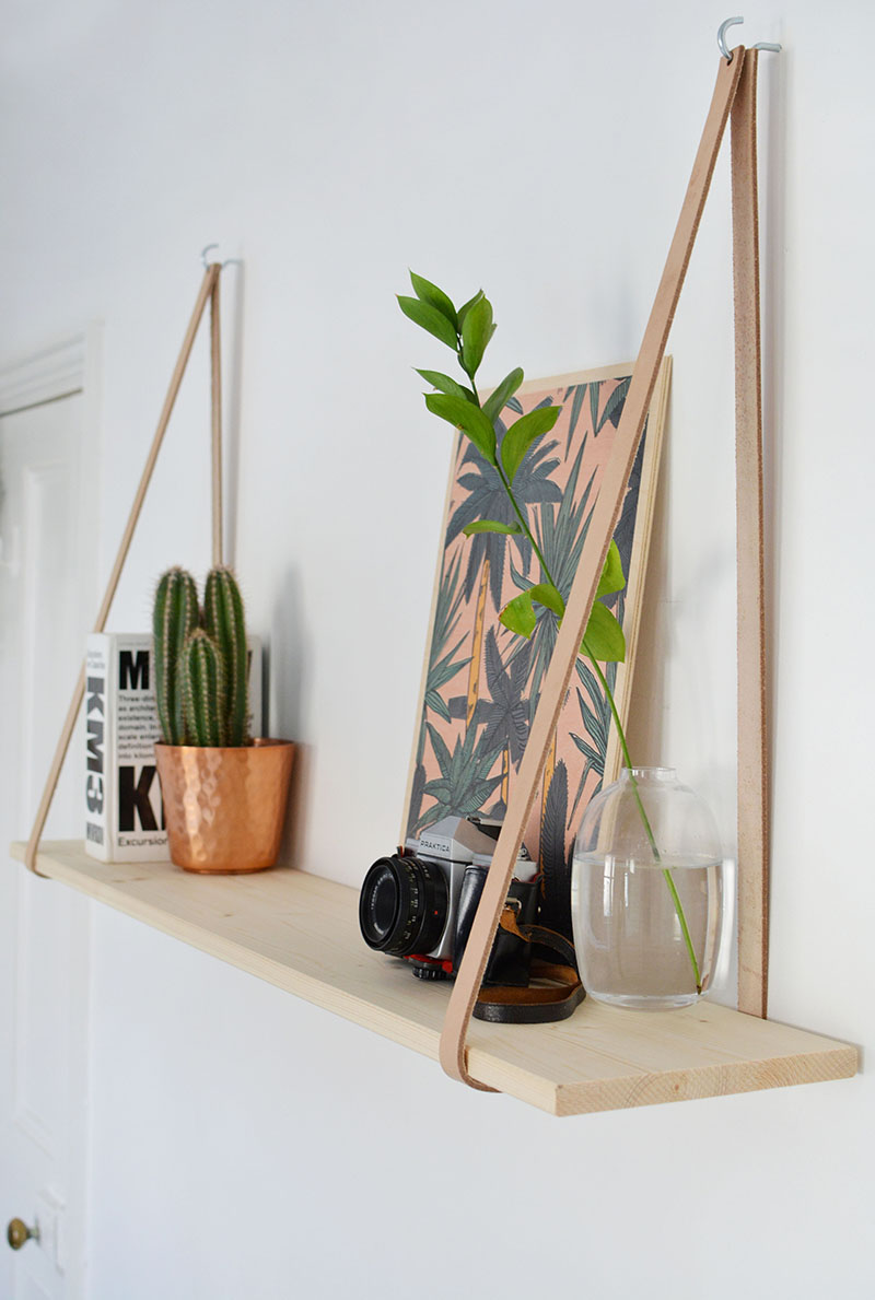 Diy Easy Leather Strap Shelf Burkatron