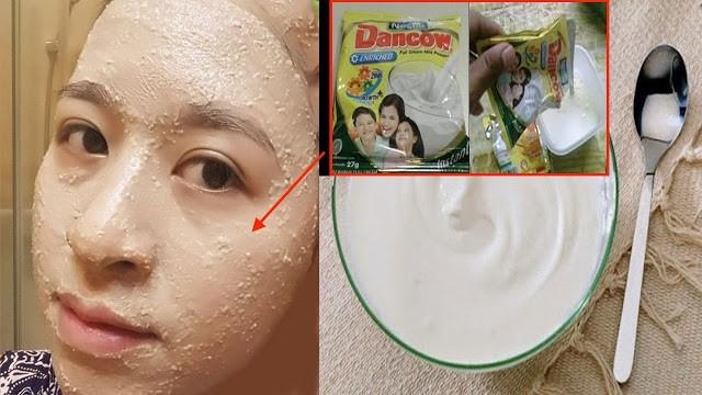 Kulit Wajah Berminyak, Jerawat, Flek Hitam dan Mata Panda Hilang Seketika Dengan Masker Susu Dancow, Begini Caranya!