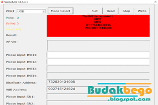 Tool Untuk Memperbaiki IMEI Spreadtrum 6530 Yang Hilang