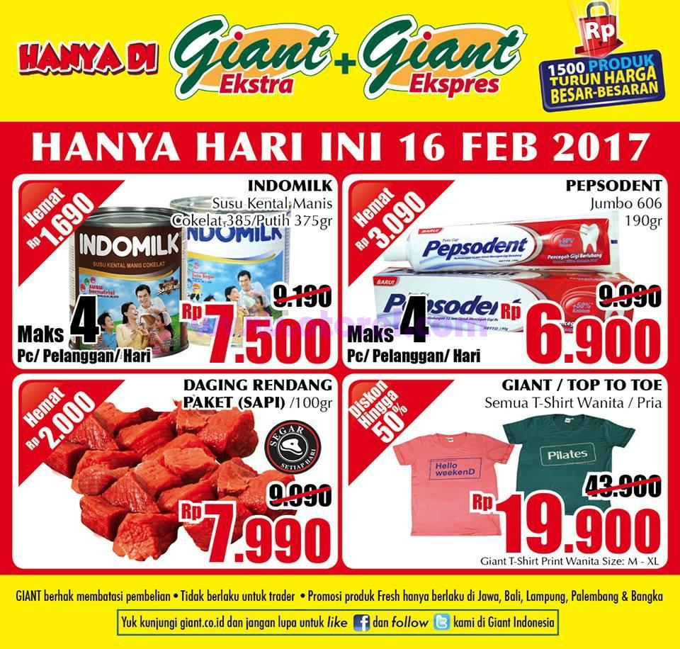 Katalog GIANT Promo GIANT Weekday Periode 16 Februari 2017