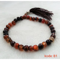 Jual Tasbih Batu Akik 33 Model Batu Cutting Facet