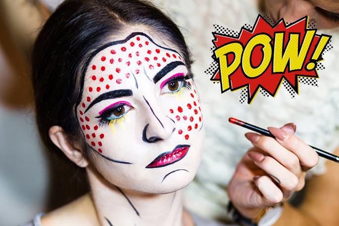 Roy Lichtenstein Halloween Costume.J Petite Halloween Makeup Tutorial Roy Lichtenstein Pop