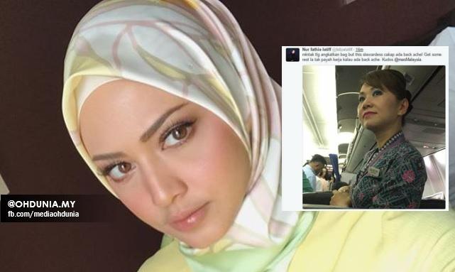Viralkan Foto Pramugari : Fathia Latiff Tidak Mahu Minta Maaf