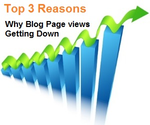 Top 3 reasons for why blog Page views getting down