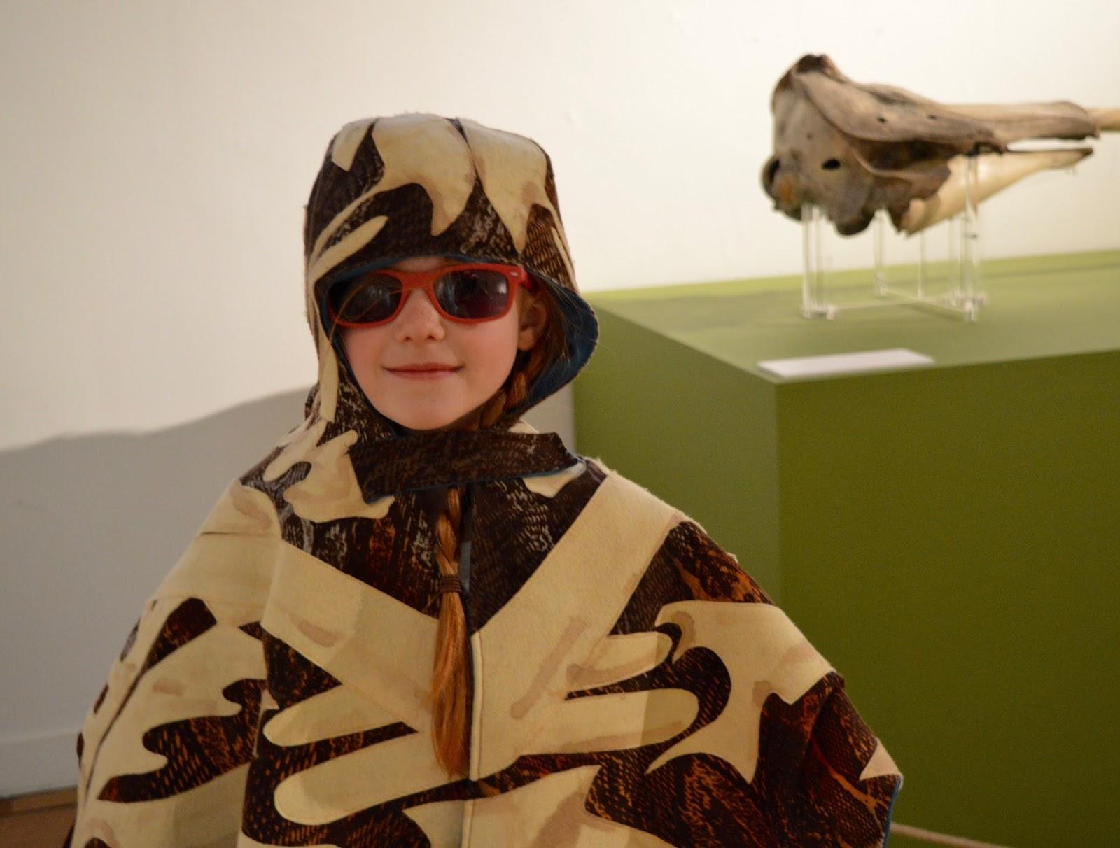Bones Exhibition at Hancock Museum, Newcastle - Heidi dressed up