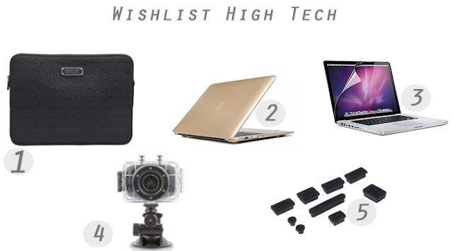 Accessoires Macbook Pro, Go pro, wishlist blog