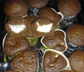 Kakaviniai keksiukai su varške