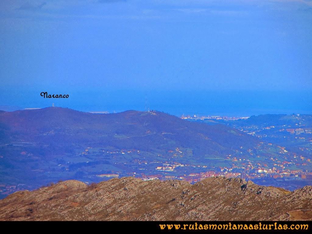 Rutas Montaña Asturias: Vista de la sierra del Naranco, Oviedo y Gijón