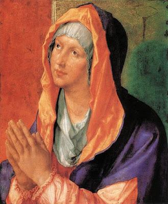 Dibujo de la Virgen María por Alberto Durero