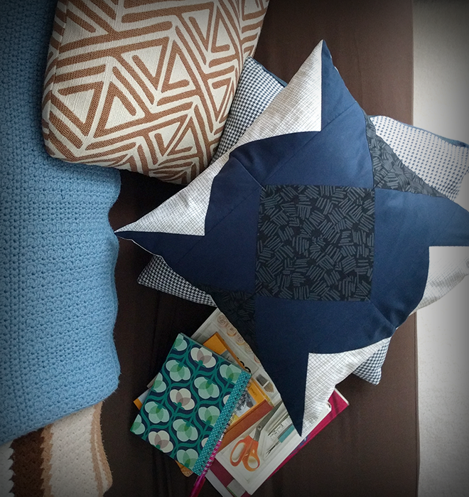 The Spiegel pillow DIY lets you add interesting colors and patterns to your home decor.