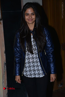 Actress Nanina Ganguly Stills in Black Tights with Vangaveeti Movie Team at Devi Theater  0015.JPG