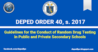 Guidelines for the Conduct of Random Drug Testing in Public and Private Secondary Schools