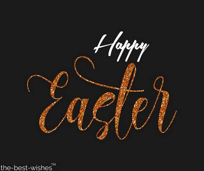 black background happy easter image