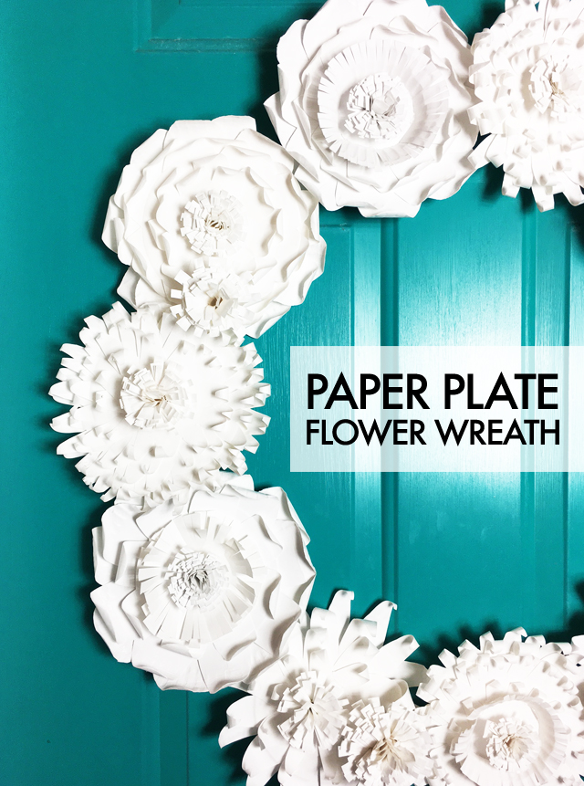 Alisaburke paper plate flower wreath paper plate flower wreath if you are a long time reader you will know that i love making wreaths and using them around the house year round mightylinksfo