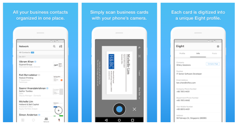 Eight business card organizer mobile app youth apps eight business card organizer app has been reviewed by 22962 users and 10661 users have rated 5 stars eight business card organizer app size varies colourmoves