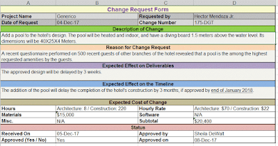 Generic Change Request Form template