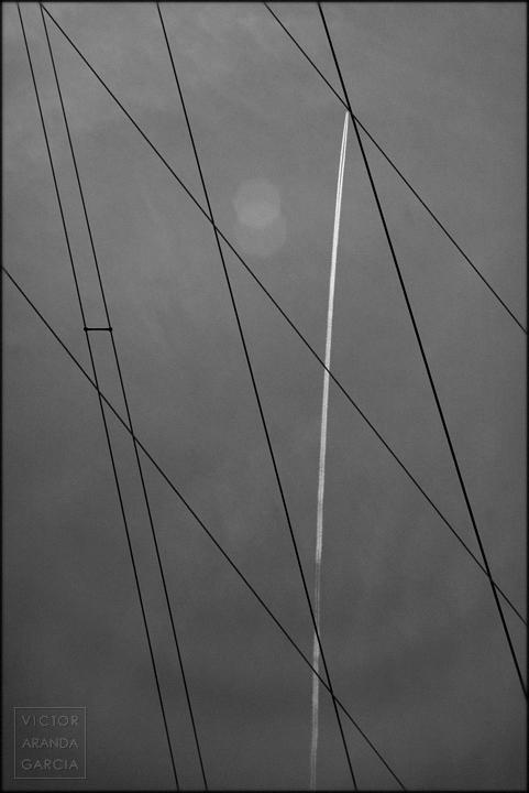 fotografía, Límites, Bétera, cables, estela, avión