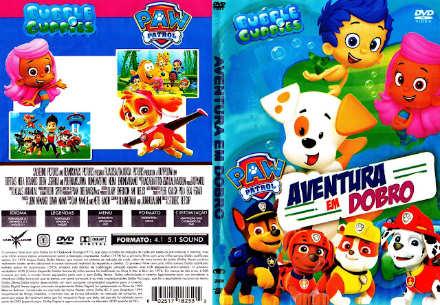 Capa DVD Bubble Guppies Aventura Em Dobro