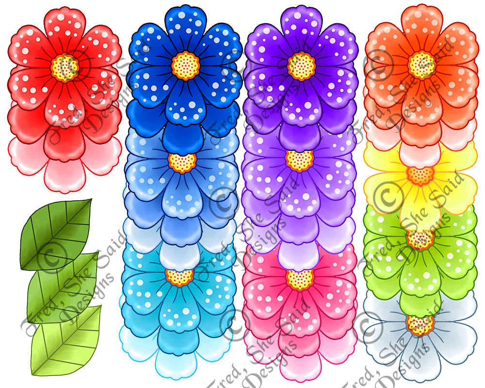 Fred, She Said Designs .... The Store: Happy Flowers DIGI ...